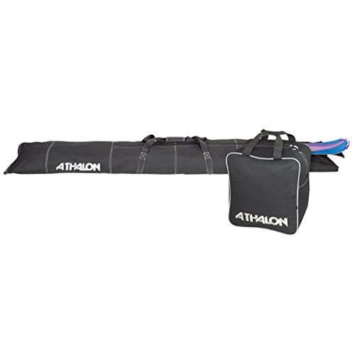 Athalon Two-Piece Ski and Boot Bag Combo (Black, 185cm) by Athalon (Combo Boot Bag Ski-und)