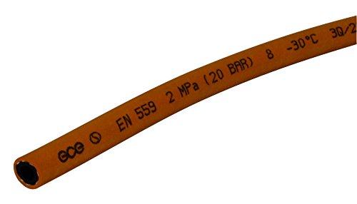 Gce Propan-/Butan-Schlauch, Innendurchmesser: 8mm, Meterware, für den Anschluss von Herd oder Schweißbrenner -