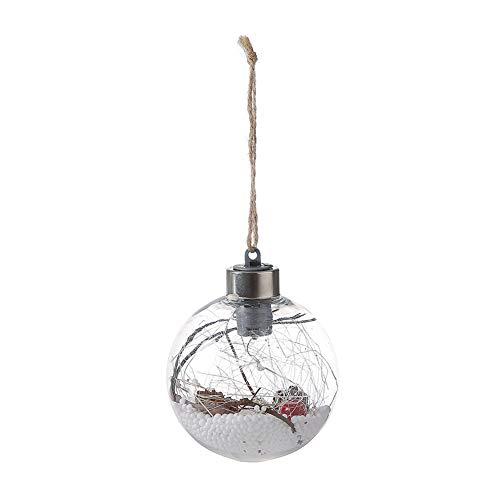 Autotipps Décoration de Noël en chanvre Hof Veilleuse LED Cuivre Ball Lampe Suspension Suspension Suspension Arbre de Noël Lampe Maison Chambre Hof Veilleuse