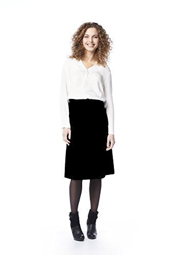 Damen Umstandsrock elegant schwarz knöchelang