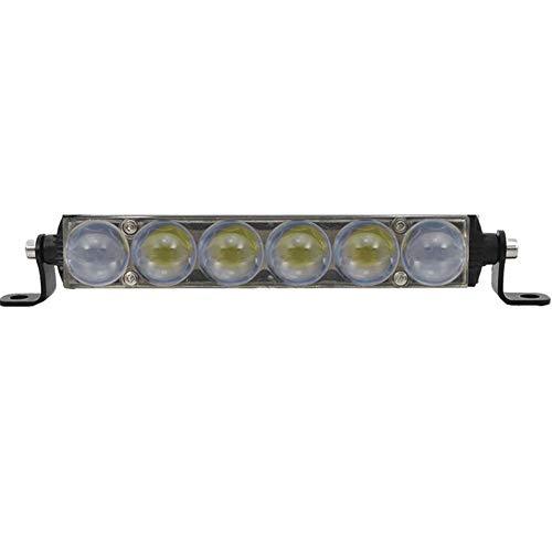 GJLR Auto-LED-Scheinwerfer 12V24V Langer Scheinwerfer Ultradünne einreihige modifizierte Off-Road-Leuchten Frontstoßstange Scheinwerfer - Freien Cree Led Flut-im
