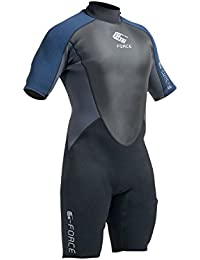2016 Gul G-Force 3mm Mens Shorty Wetsuit Black/Navy GF3305-A9