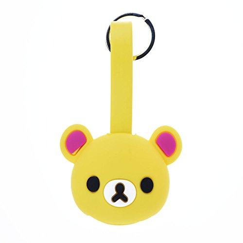 Belons lovely Bear silicone Key Chain 2-in-1Lightning e micro USB di ricarica e cavo dati cavo di sincronizzazione per iPhone e dispositivi Android Di stile Yellow Yellow