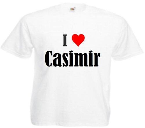 Reifen-Markt T-Shirt I Love Casimir Größe 2XL Farbe Weiss Druck Schwarz