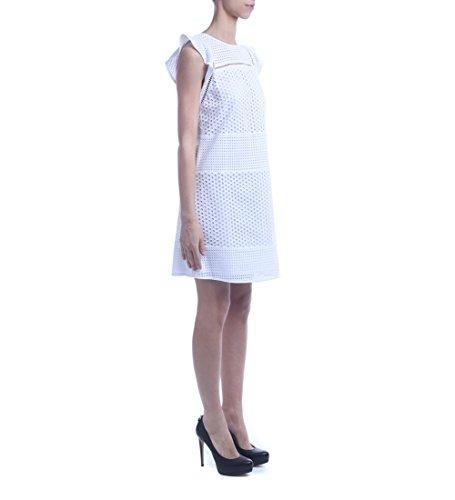 Abito Michael Kors in crochet e pizzo bianco Blanc