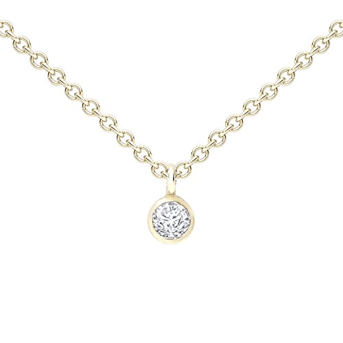 zoe-chicco-womens-14ct-yellow-gold-round-white-diamond-bezel-setting-necklace-of-length-3556-4064cm