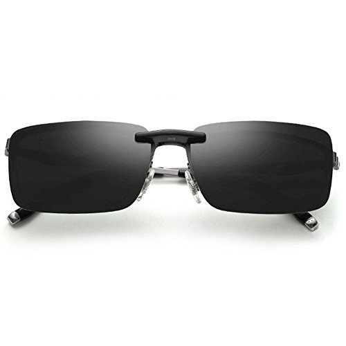 Ssowun Fletion Gespiegelte Linsen Polarisierte Clip-On Driving Sonnenbrille Clips Angeln Brillen für Brillenträger EINWEG Verpackung