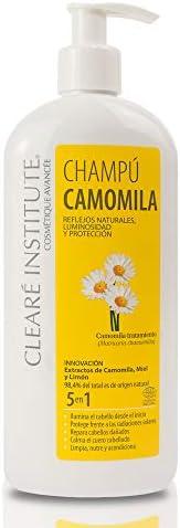 Clearé Institute Champú Camomila - Limpia, Nutre y Acondiciona | Reflejos Dorados y Luminosidad | 98% Ingre. N