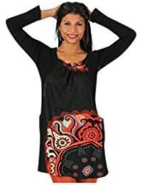 Aller Simplement - T-shirt long ou robe courte à manches longues en coton 2 poches col carré Aller Simplement TS1118