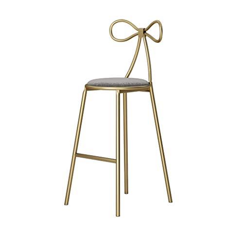 Barhocker Stuhl Fußstütze Mode Barhocker Schminktisch Hocker Schmiedeeisen Barhocker Fast-Food-Restaurant Hohe Hocker für Küchen Frühstück Stuhl Hohe Qualität Nordic Style Barhocker (Farbe : Gray)