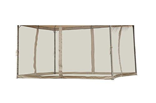 Angel Living Gazebo à double toit Corniche (Ensemble de 4 écrans Mesh pour 3x4 M)