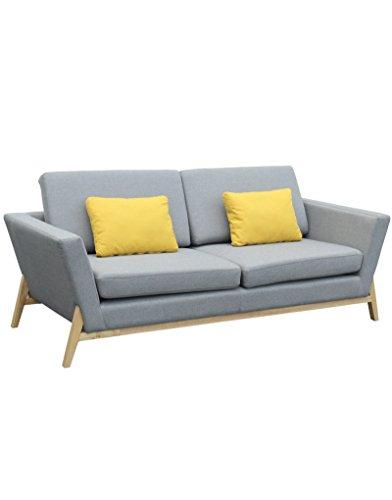 Hogar y Mas Modernes Sofa Drei-sitzer mit 2 Kissen Textil
