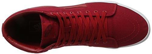 Vans Ua Sk8-Hi, Sneakers Hautes Homme Rouge (Mono Canvas Chili Pepper/true White)