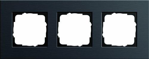 Preisvergleich Produktbild Gira 0213126 Abdeckrahmen 3 fach Esprit alu,schwarz