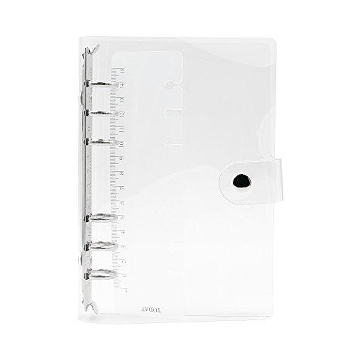 Zhi Jin Standard-Ringbuchhülle, 6Loch, weiches PVC, Transparent  A6-19.5*13cm