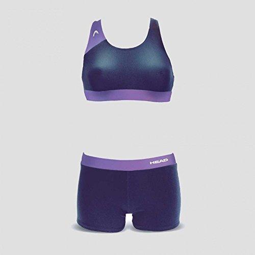 HEAD SWS Splice Bikini Plus PBT-Badeanzug 38 Azul/Lima (NVLI)