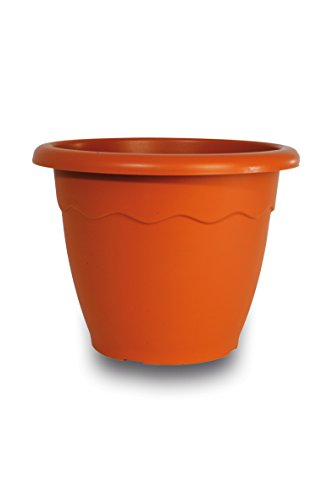 house&style 107 vaso da giardino, marrone, 59.5x59.5x45 cm