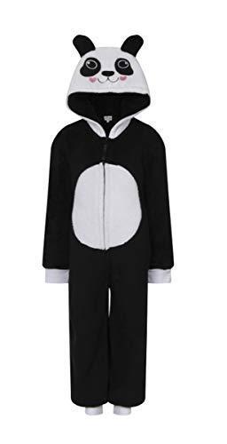 Garçon Fille Animal Fantaisie Tout en Un de à Capuche Polaire Souple Tout en Un Combinaisons Pyjama - Panda, 5-6 Ans