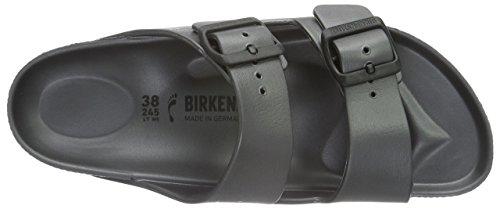 Birkenstock Damen Arizona Sandalen Grau (Metallic Anthracite)