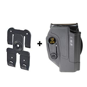IDS S&W MOLLE Attachment, Tactical 360 roto Retention Adjustment Paddle fits Smith & Wesson M&P 9mm.40cal.22cal & .45cal, M&P M2.0 in 9mm.40cal & .45cal, SD9, SD40, SD9VE
