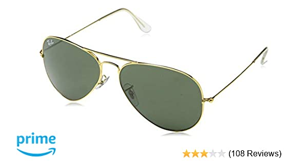 47ec3e3be99 Ray-Ban UV protection Aviator unisex Sunglasses (L0205