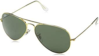 ... Ray-Ban UV protection Aviator unisex Sunglasses (L0205 58  millimeters Green) db5a850168fe
