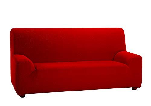 Martina Home Tunez - Copridivano Elasticizzato 3 posti 3 Plazas (180-240 cm) Rosso