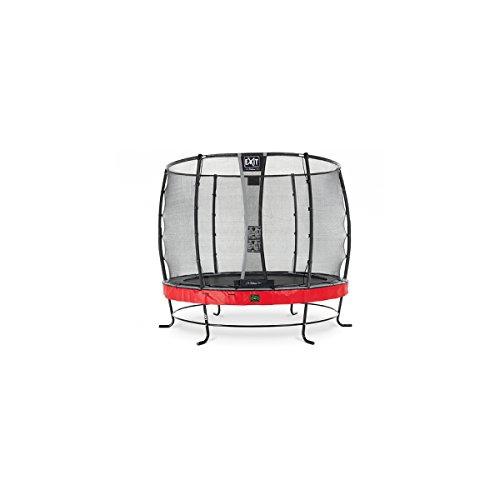 EXIT Trampolin Elegant Premium Ø 251 cm rot mit Netz Deluxe 08.20.08.80