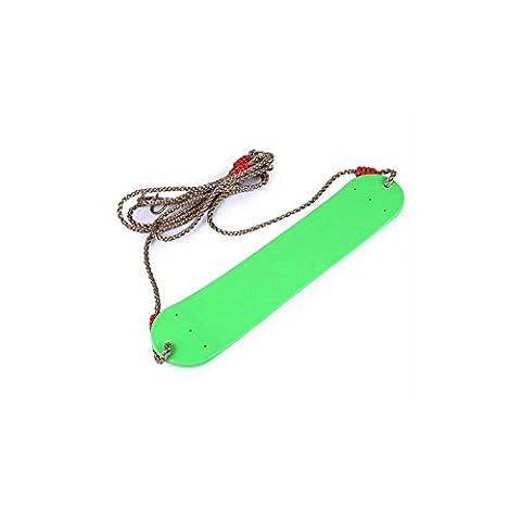 LD@Enfants Extérieur en plein air jouets suspendus Patio arbre de jardin Confortable forme en U Design robuste PE sangles Swing Rope Belt Seat Toys , green