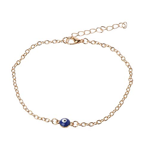 Evil Eye Anklet Foot Chain 18k Gold Plated Anklet Charms Bracelet Evil Eye With The Most Up-To-Date Equipment And Techniques Fashion Jewelry Jewelry & Watches