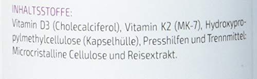 Vitamin K2+D3-180 Kapseln - Vitamin D3 10.000 IE + Vitamin K2 (MK-7) 200µg - Original vitaMK7® - Premium Qualität