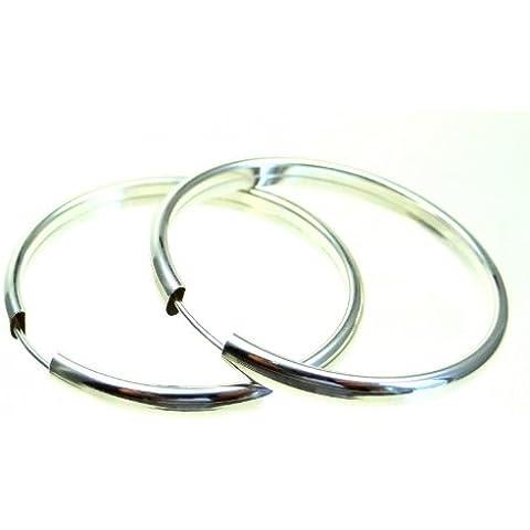 ASS 925 argento orecchini cerchio 40 mm,