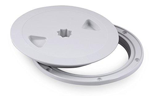 Inspektionsluke Nuova Rade 125 mm weiß rund mit Dichtring Revisionsdeckel