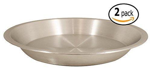 Crestware Aluminium mit Pfanne Schaber Pizza Pie Pan, 10 Inch aluminiumfarben - Deep Pie Pan