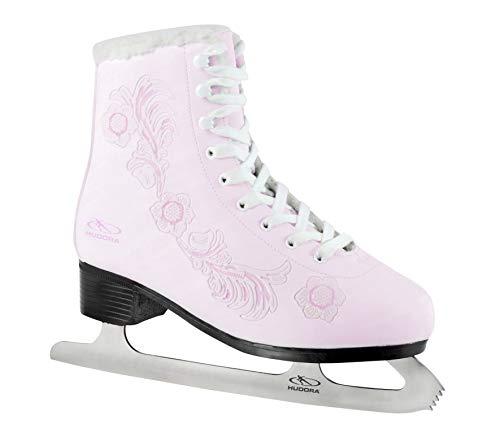 Hudora - Patines de hielo para mujer, color rosa blanco Flower Design Talla:37