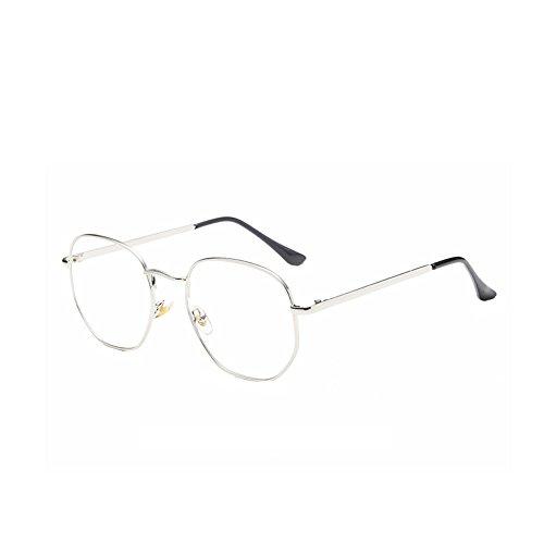YefreeFrauen Männer Runde Brillen Metallrahmen Gläser Klare Linse Vintage-Mode Gläser Rahmen Plain Brillen Für Lesen / Arbeiten