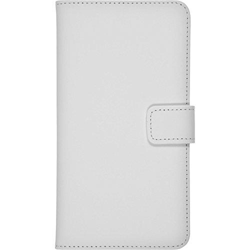 PhoneNatic Kunst-Lederhülle für Apple iPhone 6 Plus / 6s Plus Wallet schwarz Tasche iPhone 6 Plus / 6s Plus Hülle + 2 Schutzfolien Weiß