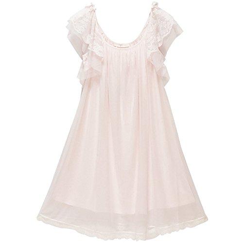 JINSHENG Staub Sommer - Schleuder Sommer EIS royal Pyjama mit kurzen ärmeln Spitzen sexy Kurze ärmel Kurze ärmel Sweet Home Kleid Pyjamas,160 (M),Pink,