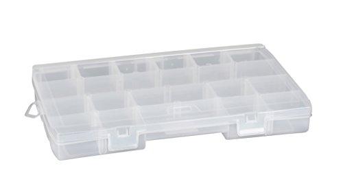 Stanley Werkzeug-Organizer / Aufbewahrungsbox für Kleinteile (35.7x4.8x22.9cm, 23 abgerundete Fächer, transparenter Deckel, 2 verschiedene Fächergrößen) 1-92-890 (Werkzeug-organizer Storage Box)