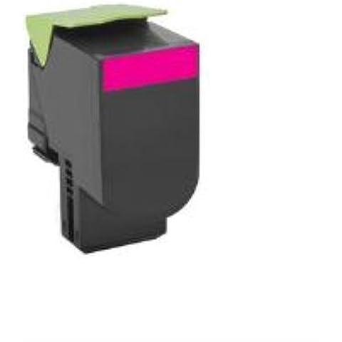 Lexmark 80C20M0 - Tóner, capacidad 1000 páginas, color magenta
