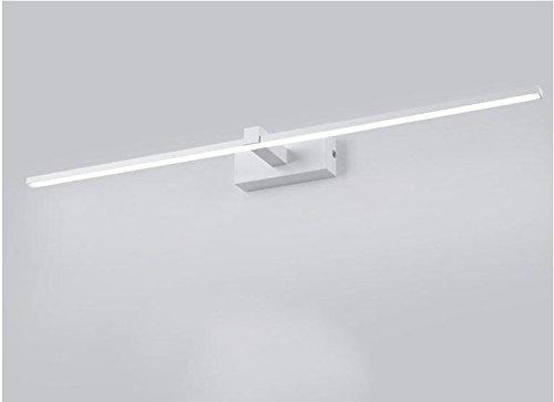 CCGG Einfache LED Spiegel Scheinwerfer Badezimmer Badezimmer Lampe Make-up Lampe Hause Badezimmer Lampen 40cm 60cm 80cm 100cm (Farbe : Weiß, Größe : Round tube-100cm)