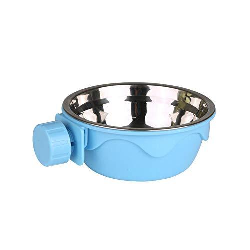 Fun-Diamond Hund Hängen Schüssel Haustier Hängen Abnehmbare Käfig Edelstahl Wasser Cup Wasser Futter Feeder Bögen Käfig Coop Cup für Katze