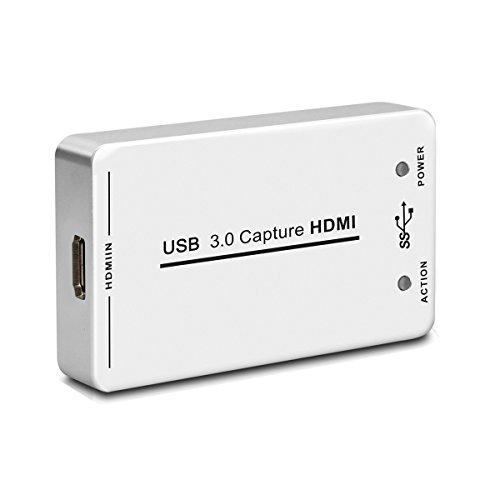 Easy-Link Boîtier d'acquisition vidéo USB 3.0 HDMI 1080p 60 fps HD Game Capture pour Windows / Mac OS / Linux / PS4 PS3 / Xbox one / Xbox 360 / Wii U / Blu-ray