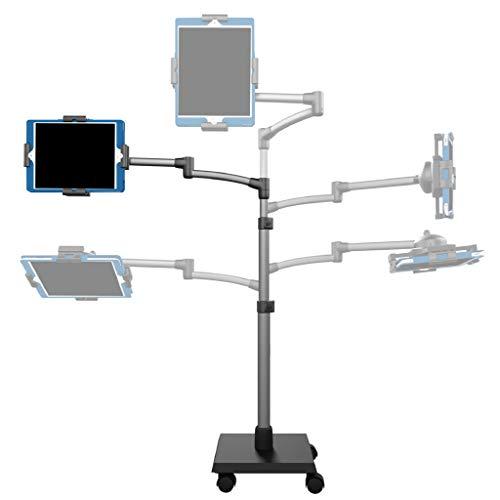Premium Tablet Ständer von Levo | Halterung für iPad, iPad Mini, Samsung Galaxy, Nexus, Surface Pro, Miix, Fire und andere Tablets und E-Reader | Robuster und flexibler Standfuß in Schwarz und Silber