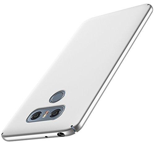 anccer LG G6 Hülle, [Serie Matte] Elastische Schockabsorption & Ultra Thin Design für LG G6 (Serie Matte, Silber)