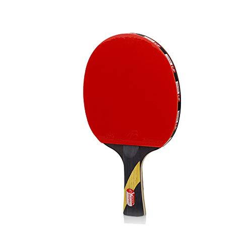 AZX Kohlenstoff Tischtennisschläger Mit Schutzhülle Holz Ping Pong Paddle Set Professioneller Tischtennisschläger 27 * 16cm