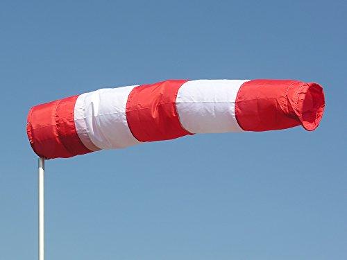 Windsack rot-weiß 30cm Durchmesser, 1,20m lang