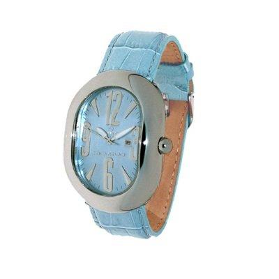 Haurex 88105T Montre Bracelet en cuir d'agneau couleur turquoise
