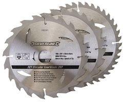 Preisvergleich Produktbild SAW BLADE, 20, 24, 40T, 190MM DIA (3PK) 590591 By SILVERLINE