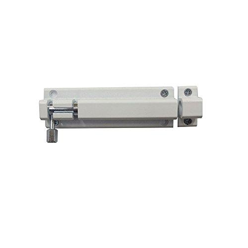 Bolzenriegel Riegel Türriegel Schubriegel Sicherheitsriegel mit befestigter Schlaufe (100 mm Weiss)
